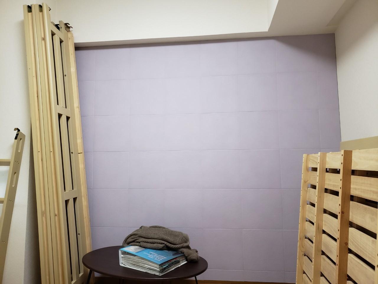 寝室壁2施工後