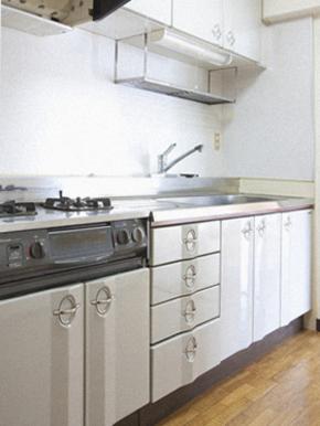 システムキッチンにリフォームしました。 福岡市南区 H様のビフォー画像