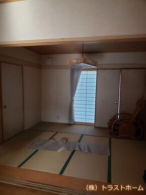 福岡市東区で和室をキッチン空間へリフォームしました。のビフォー画像