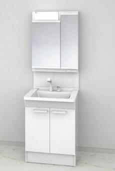 TOTO   Vシリーズ H1800 開き扉 収納2面鏡(LED) スタンダード ホワイト W60cmの画像